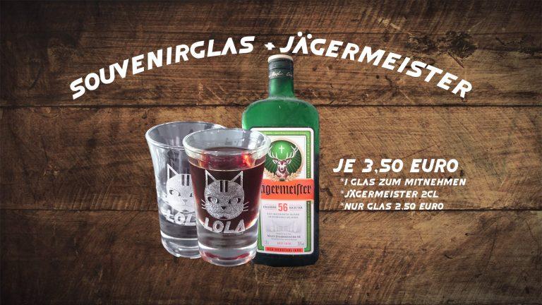Schnapsglasaktion Jägermeister Merchandise