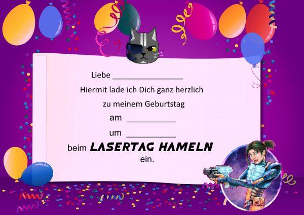 Geburtstag Kindergeburtstag Einladungskarten Mädchen
